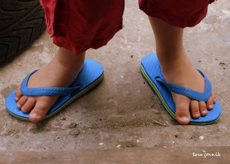 mixed-up flip flop